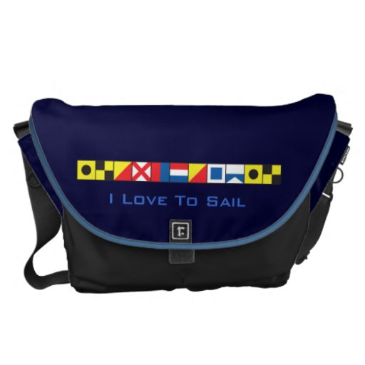 Sea Worthy_I Love To Sail_Signal Flags epaulet2 Courier Bag