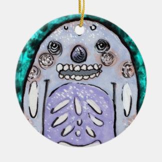 Sea Yeti Ornament! Ceramic Ornament