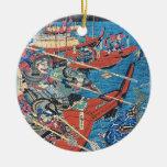 Seabattle de Keisai Eisen Adorno Navideño Redondo De Cerámica