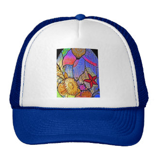 Seabed / Ocean Floor on Stained Glass Trucker Hat