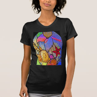 Seabed / Ocean Floor on Stained Glass Shirts