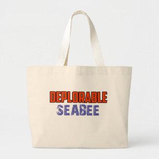 seabee design large tote bag
