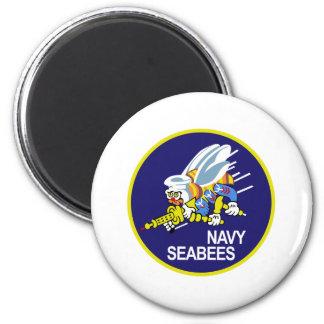 Seabees NAVY 2 Inch Round Magnet
