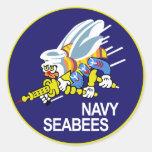 Seabees NAVY Classic Round Sticker