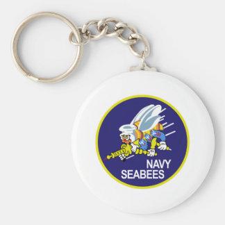 Seabees NAVY Keychain