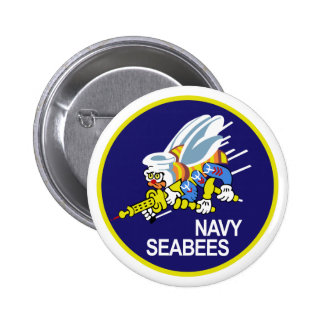 Seabees NAVY Pinback Button