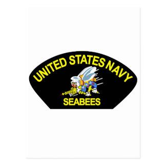 Seabees NAVY Postcard