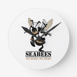 Seabees We build We Fight Clock