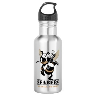 Seabees We build We Fight Drink Bottle