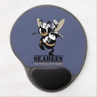 Seabees We build We Fight Gel Mouse Pad