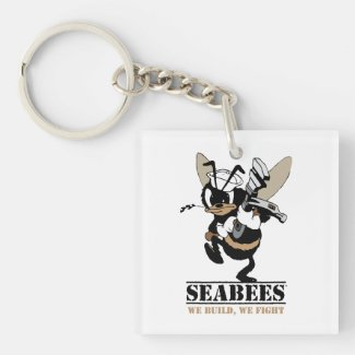 Seabees We build We Fight Key Chain