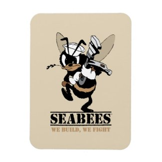 Seabees We build We Fight Photo Magnet