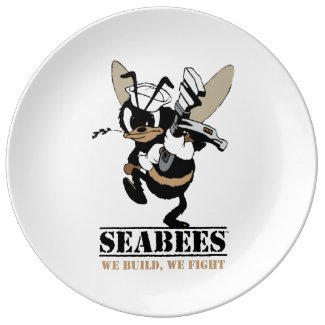 Seabees We build We Fight Plate