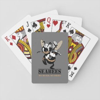 Seabees We build We Fight Playing Cards