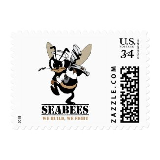 Seabees We build We Fight Postage Stamp