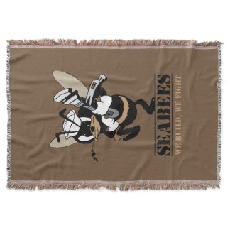 Seabees We build We Fight Throw Blanket