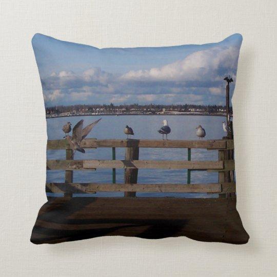 Seabird Convention Throw Pillow