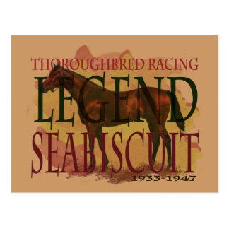 Seabiscuit - leyenda que compite con excelente postal
