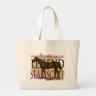 Seabiscuit - Thoroughbred Racing Legend Large Tote Bag