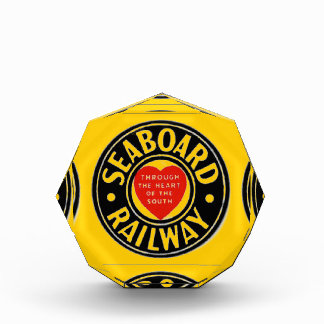 Seaboard Air Line Railway Heart Logo Acrylic Award