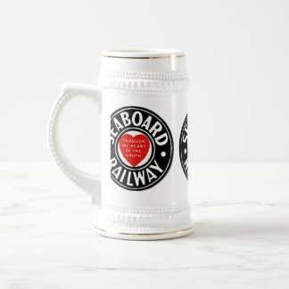 Seaboard Air Line Railway Heart Logo Beer Stein