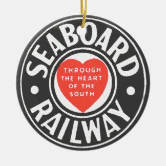 Seaboard Air Line Railway Heart Logo Ceramic Ornament