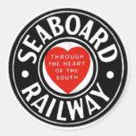 Seaboard Air Line Railway Heart Logo Classic Round Sticker