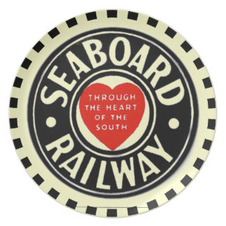 Seaboard Air Line Railway Heart Logo Dinner Plate