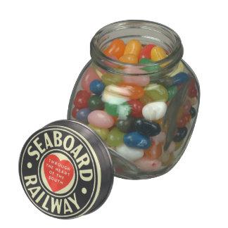 Seaboard Air Line Railway Heart Logo Glass Jars