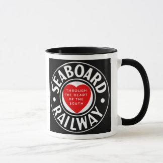 Seaboard Air Line Railway Heart Logo Mug