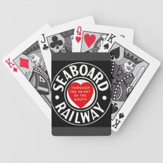 Seaboard Air Line Railway Heart Logo Bicycle Playing Cards