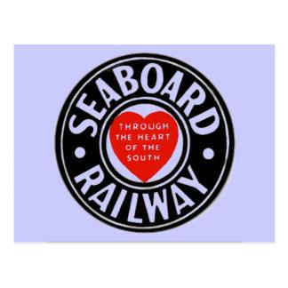 Seaboard Air Line Railway Heart Logo Postcard