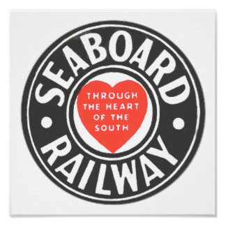 Seaboard Air Line Railway Heart Logo Poster