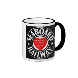 Seaboard Air Line Railway Heart Logo Ringer Coffee Mug