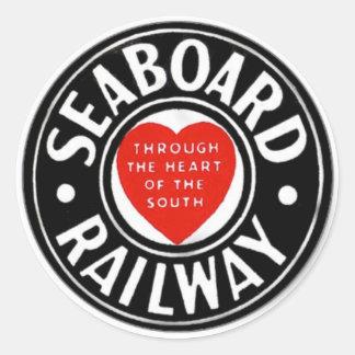 Seaboard Air Line Railway Heart Logo Round Sticker