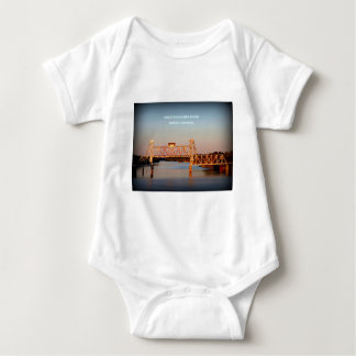 SEABOARD AIRLINE RR BRIDGE - CHATTAHOOCHEE RIVER BABY BODYSUIT