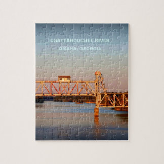 SEABOARD AIRLINE RR BRIDGE - CHATTAHOOCHEE RIVER JIGSAW PUZZLE