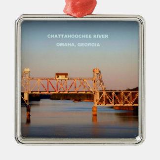 SEABOARD AIRLINE RR BRIDGE - CHATTAHOOCHEE RIVER METAL ORNAMENT