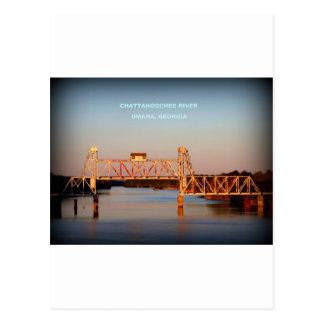 SEABOARD AIRLINE RR BRIDGE - CHATTAHOOCHEE RIVER POSTCARD