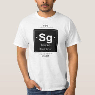Seaborgium Chemical Element t-shirt vintage badge