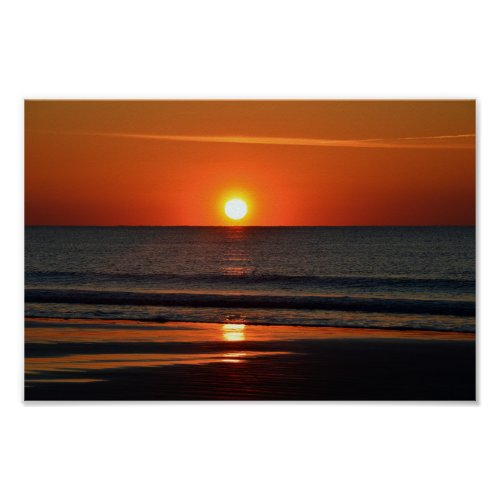 Seabrook Island Beach Sunrise Poster