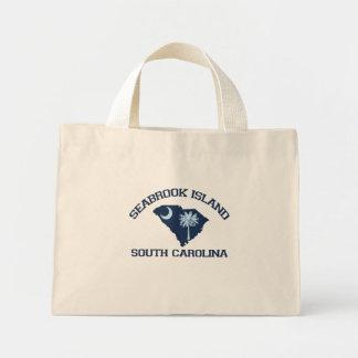 Seabrook Island Map Design Tote Bag