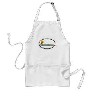 Seabrook Island Oval Design. Adult Apron