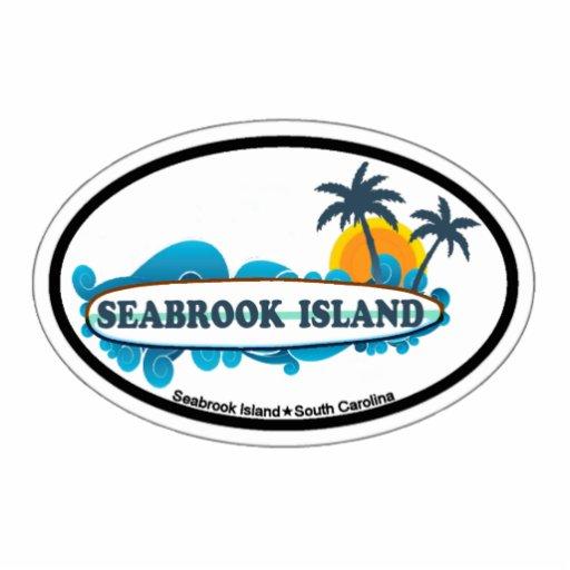 Seabrook Island Oval Design. Acrylic Cut Out