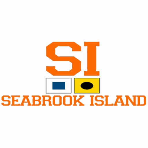 "Seabrook Island SC  ""Nautical Flags"" Design. Acrylic Cut Out"