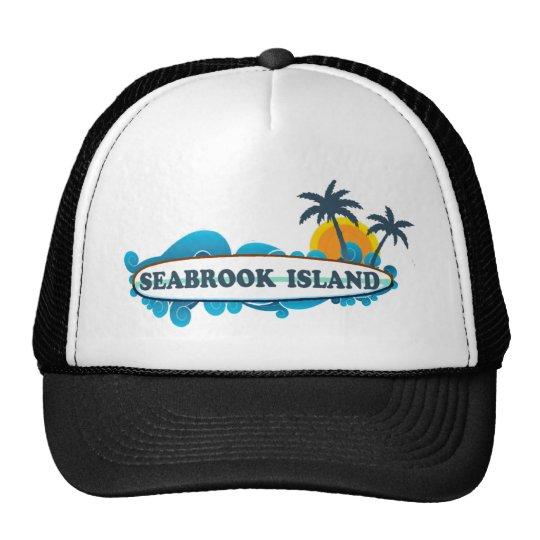 """Seabrook Island """"Surf"""" Design Trucker Hat"""
