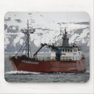 Seabrooke, Crab Boat in Dutch Harbor, Alaska Mouse Pad