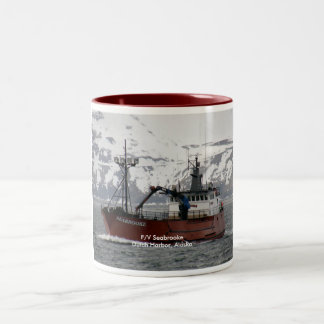 Seabrooke, Crab Boat in Dutch Harbor, Alaska Two-Tone Coffee Mug