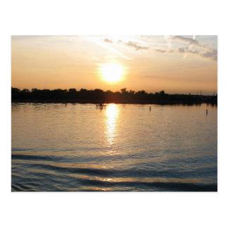 Seacape hermoso de la laguna de Venecia en la Postal