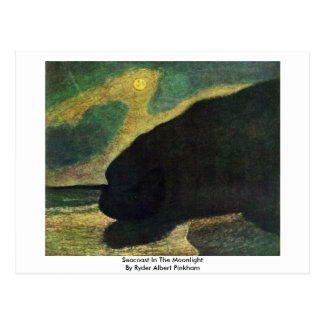 Seacoast In The Moonlight By Ryder Albert Pinkham Postcard